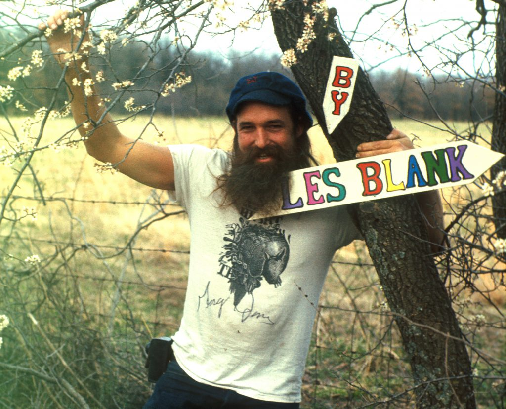 Les Blank with titles of A Poem Is A Naked Person (Cropped) 1974